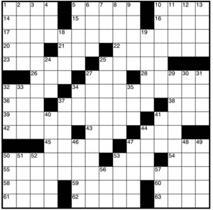 graphic relating to Printable Crossword Puzzles La Times titled No cost Printable Crossword Puzzles